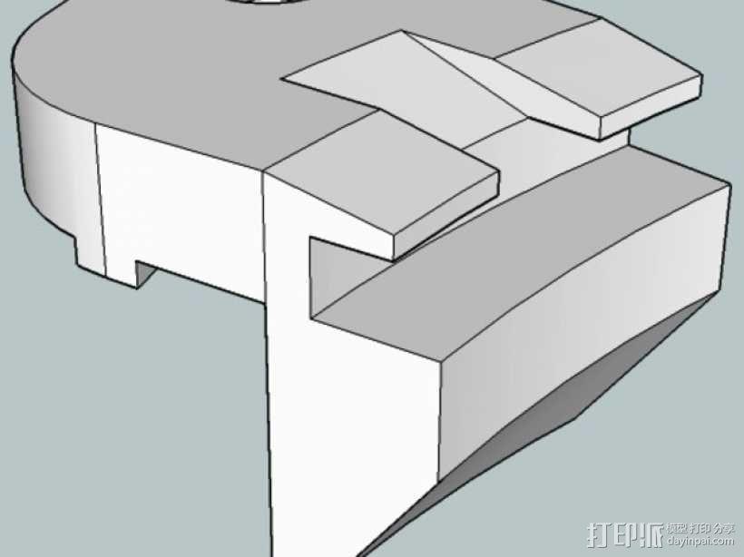 打印床支撑器 3D模型  图1
