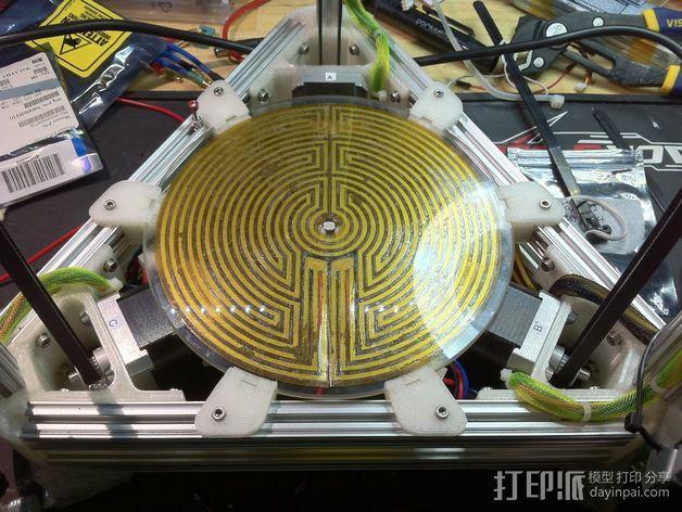 打印床支撑器 3D模型  图5