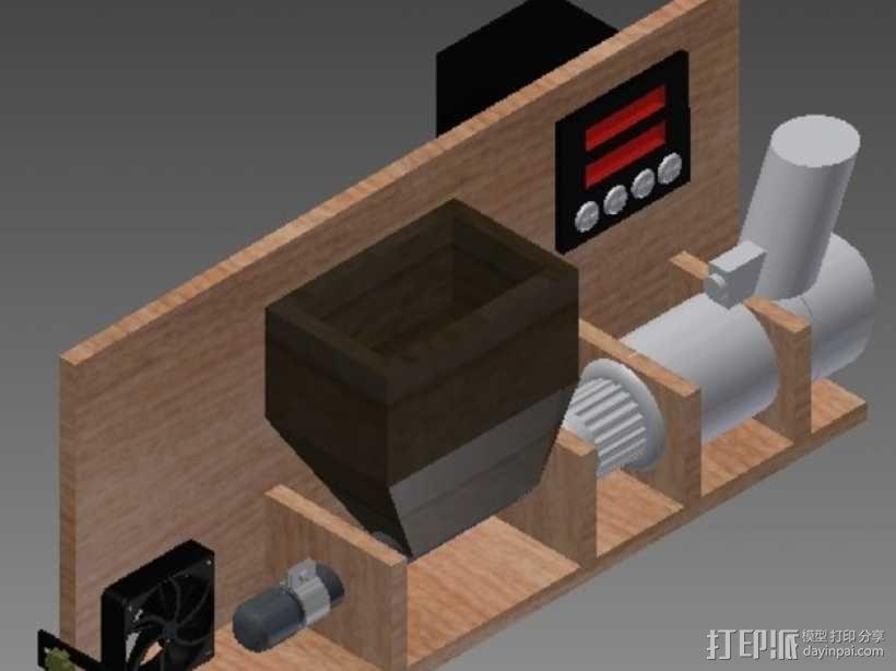 DIY材料挤出机 3D模型  图1