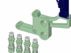 Prusa i3打印床调平器弹簧套件 3D模型