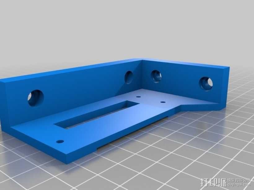 LED液晶显示屏保护盒 液晶显示屏支架 3D模型  图2