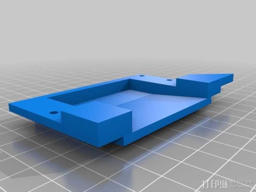 LED液晶显示屏保护盒 液晶显示屏支架 3D模型  图3