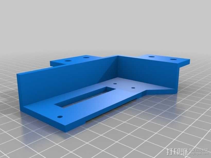 LED液晶显示屏保护盒 液晶显示屏支架 3D模型  图4