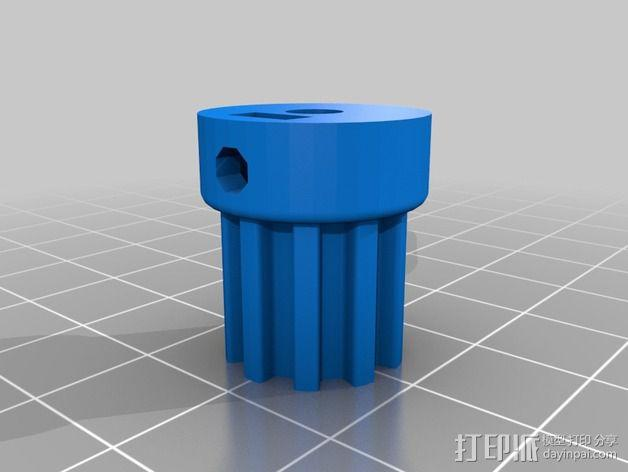 通用式浆糊挤出机 3D模型  图3
