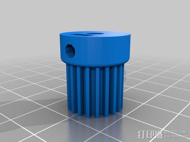 通用式浆糊挤出机 3D模型  图2