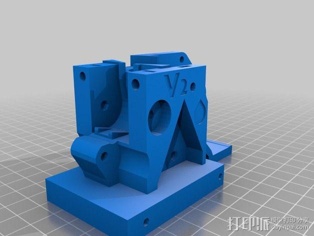 通用式浆糊挤出机 3D模型  图5
