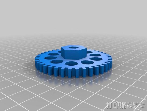 通用式浆糊挤出机 3D模型  图6