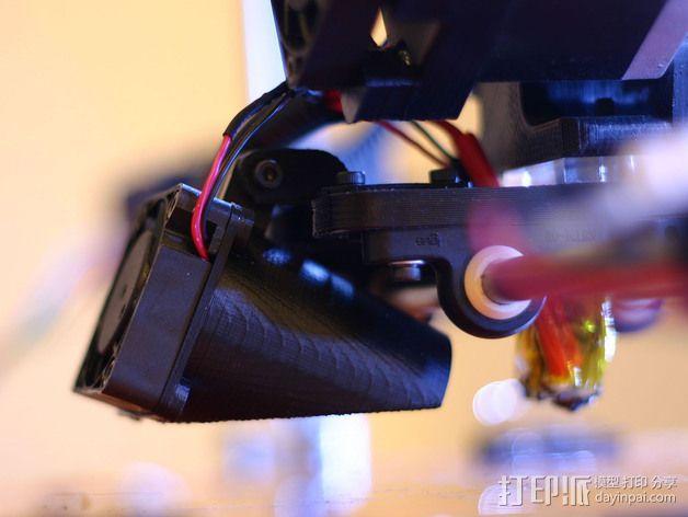 MakerDev 挤出机风扇支架 3D模型  图1