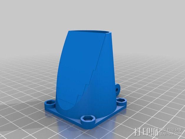 MakerDev 挤出机风扇支架 3D模型  图3