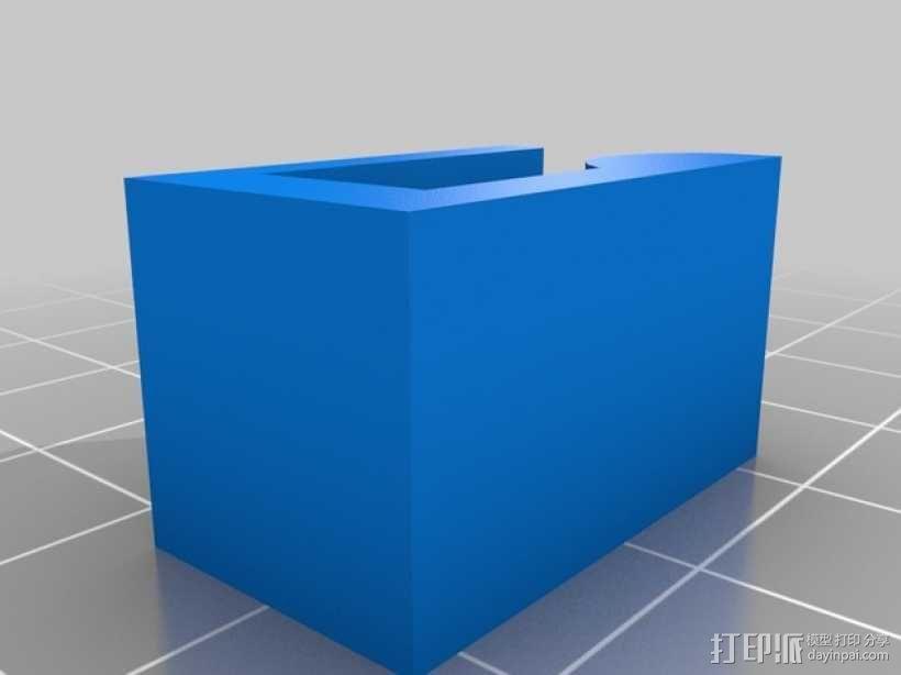 热床固定夹 3D模型  图2