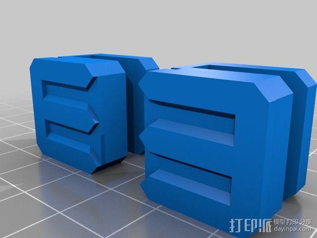 玻璃夹 3D模型  图3