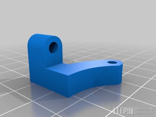挤出机线材导轨 3D模型  图2