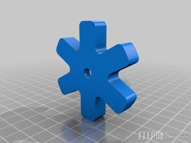 Vellman K8200打印机线轴支架 3D模型  图8