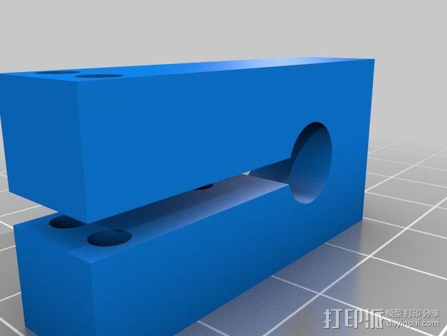 OneUp/TwoUp打印机Z轴限位开关支架 3D模型  图2