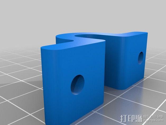 打印床安装支架 3D模型  图3