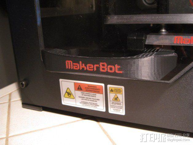 Replicator 2x打印机门把手 3D模型  图1