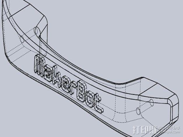 Replicator 2x打印机门把手 3D模型  图5