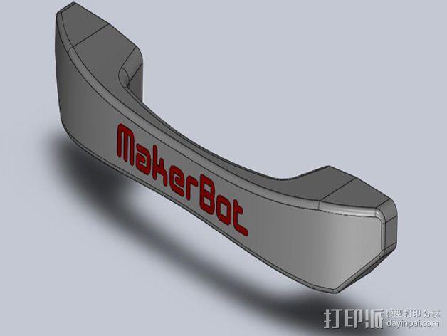 Replicator 2x打印机门把手 3D模型  图4