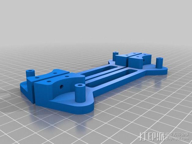 可调整的线轴支架 3D模型  图2