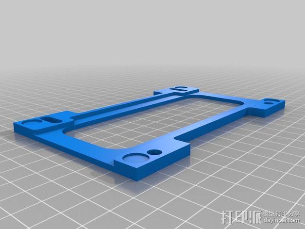 可调整的线轴支架 3D模型  图3
