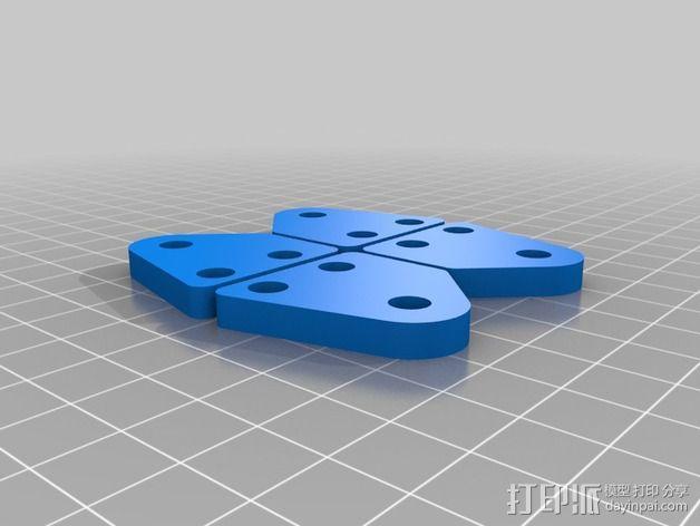 可调整的线轴支架 3D模型  图4