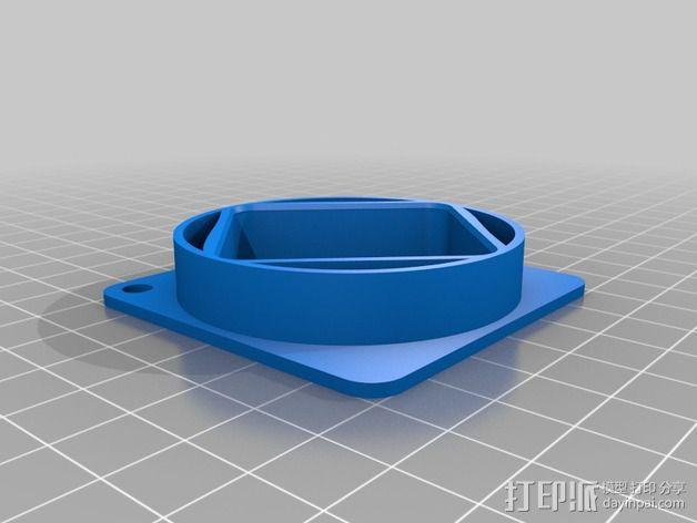 40毫米风扇适配器 3D模型  图2