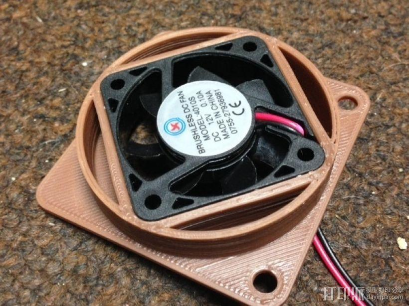 40毫米风扇适配器 3D模型  图1