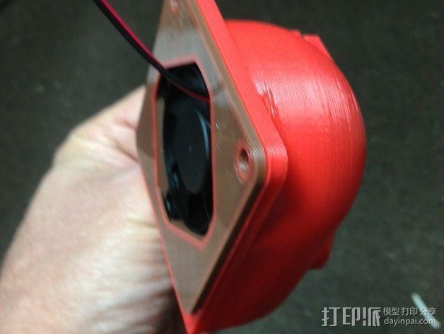 40毫米风扇适配器 3D模型  图4