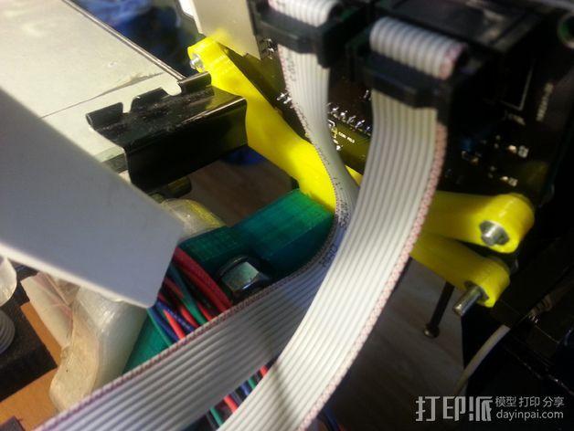 智能控制器液晶显示屏支架 3D模型  图3