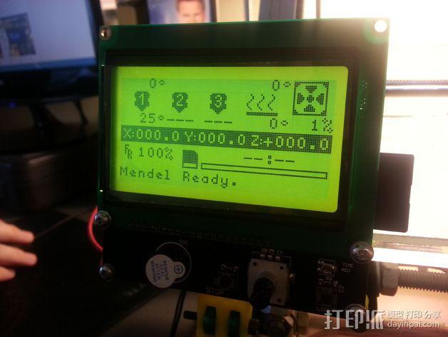 智能控制器液晶显示屏支架 3D模型  图1