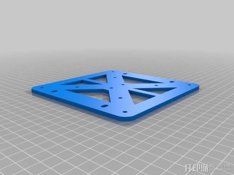 K8200 / 3Drag打印机铝制接板全套配件 3D模型  图1