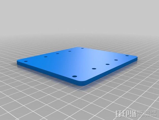 K8200 / 3Drag打印机铝制接板全套配件 3D模型  图2