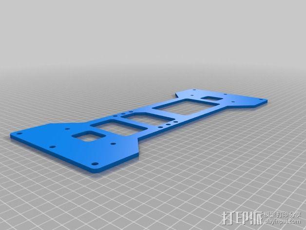 K8200 / 3Drag打印机铝制接板全套配件 3D模型  图4