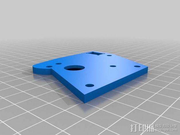 K8200 / 3Drag打印机铝制接板全套配件 3D模型  图6