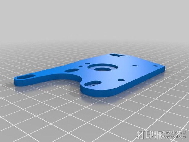 K8200 / 3Drag打印机铝制接板全套配件 3D模型  图5