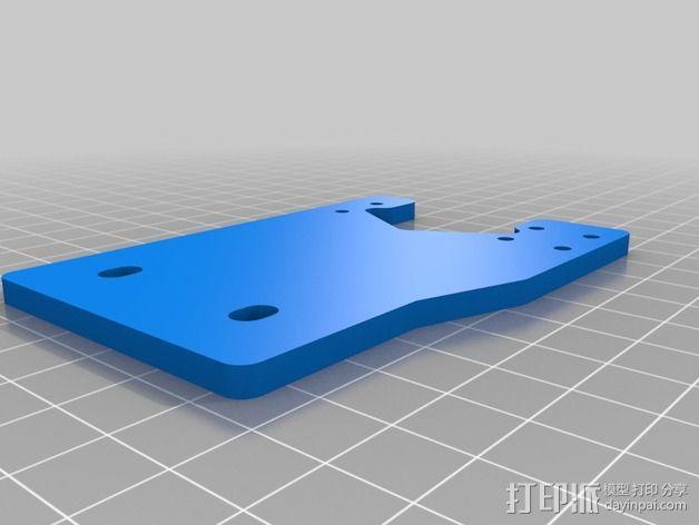 K8200 / 3Drag打印机铝制接板全套配件 3D模型  图7