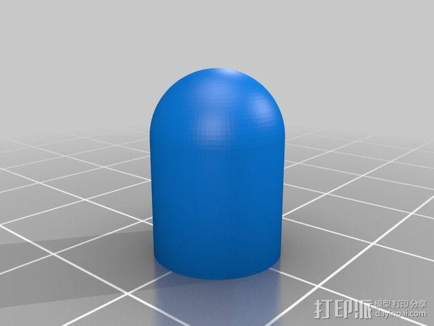 M8连杆盖 螺杆盖 3D模型  图2