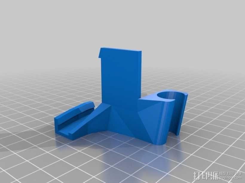 侧边电缆锁固装置 3D模型  图2
