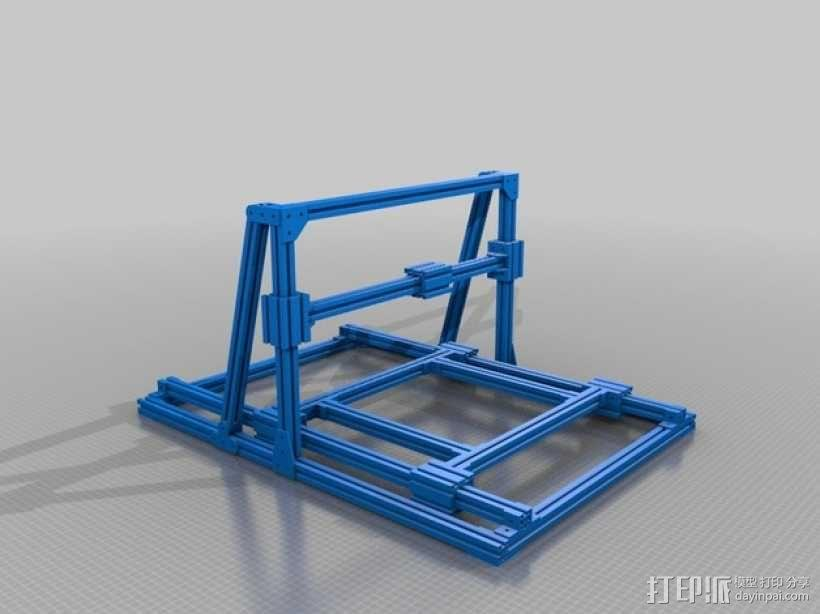 铣床框架 3D模型  图1