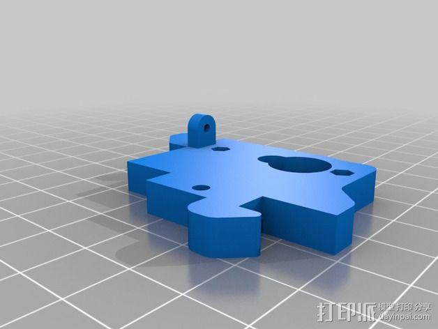 马达安装支架 3D模型  图2