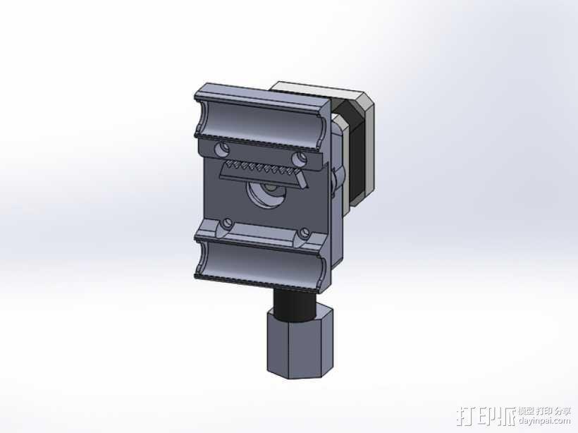 挤出机安装支架 3D模型  图1