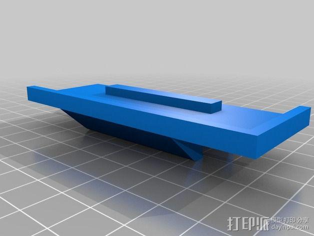 挤出机安装支架 3D模型  图3