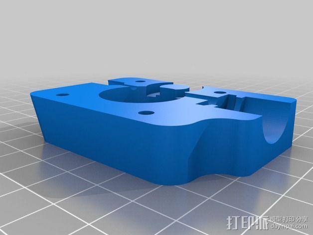 挤出机安装支架 3D模型  图2