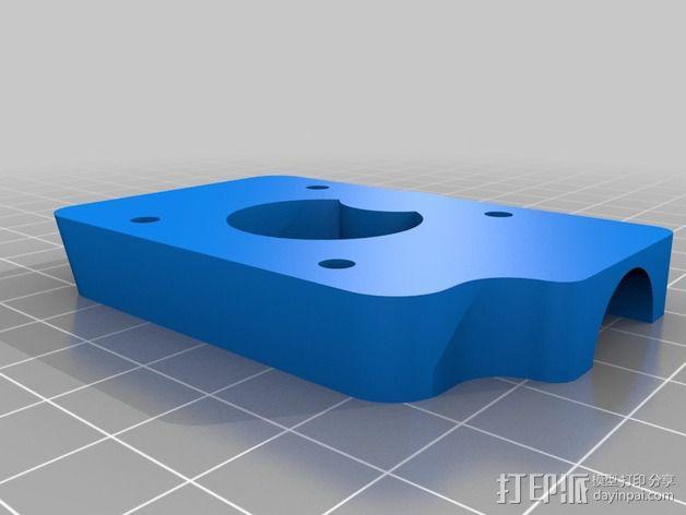 挤出机安装支架 3D模型  图5