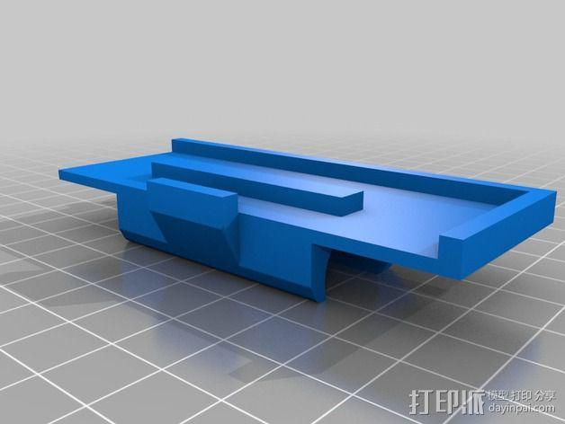 挤出机安装支架 3D模型  图4