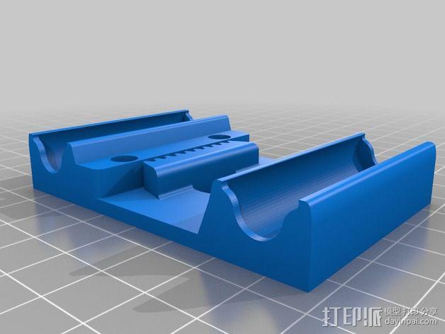 挤出机安装支架 3D模型  图6