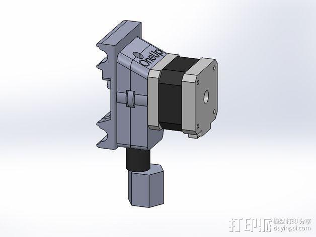 挤出机安装支架 3D模型  图7