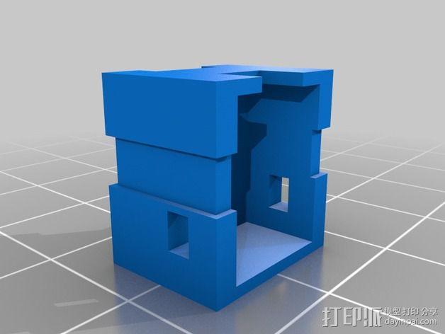 LED灯灯环固定器 3D模型  图2
