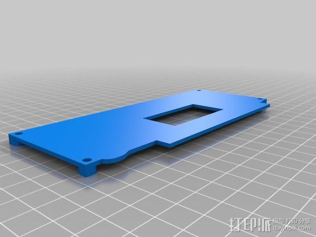 控制器显示屏支架 3D模型  图2