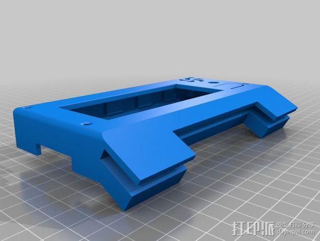 控制器显示屏支架 3D模型  图4